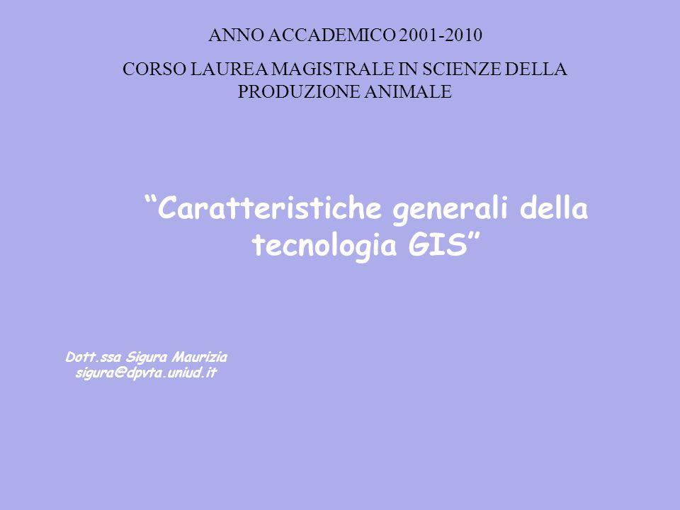 Caratteristiche generali della tecnologia GIS