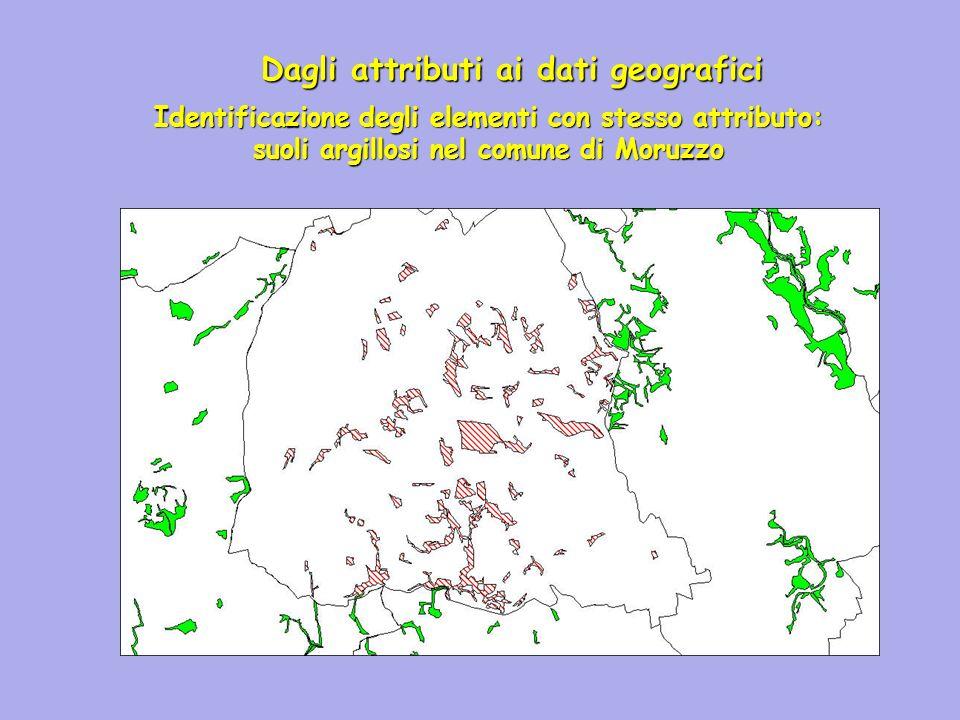 Dagli attributi ai dati geografici