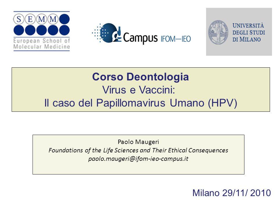 Il caso del Papillomavirus Umano (HPV)