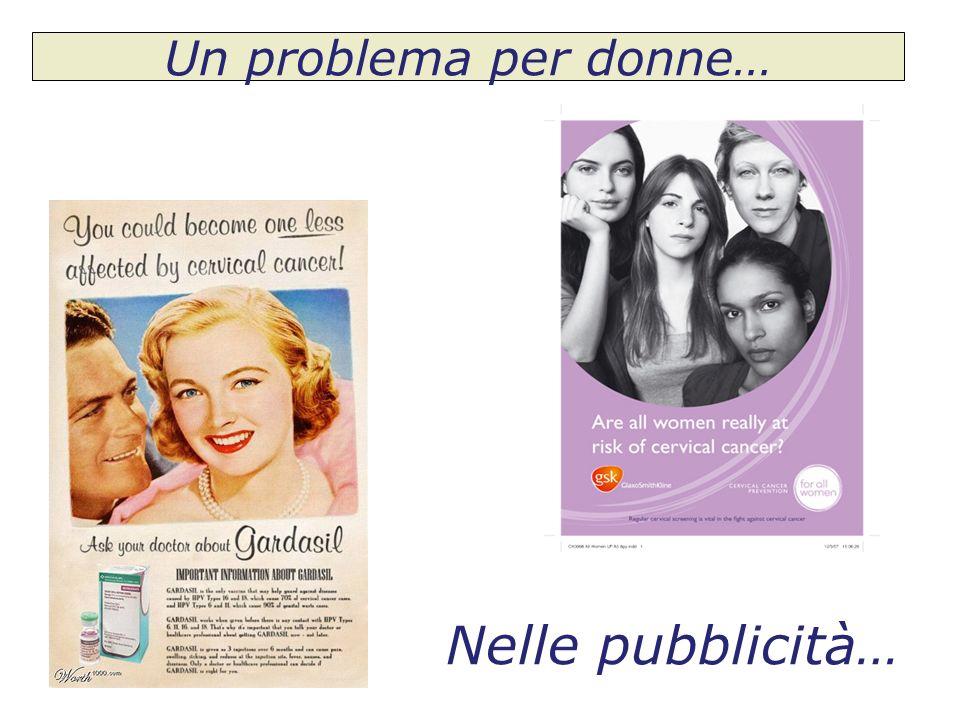 Nelle pubblicità… Un problema per donne…