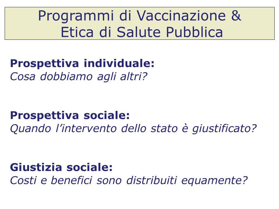 Programmi di Vaccinazione & Etica di Salute Pubblica