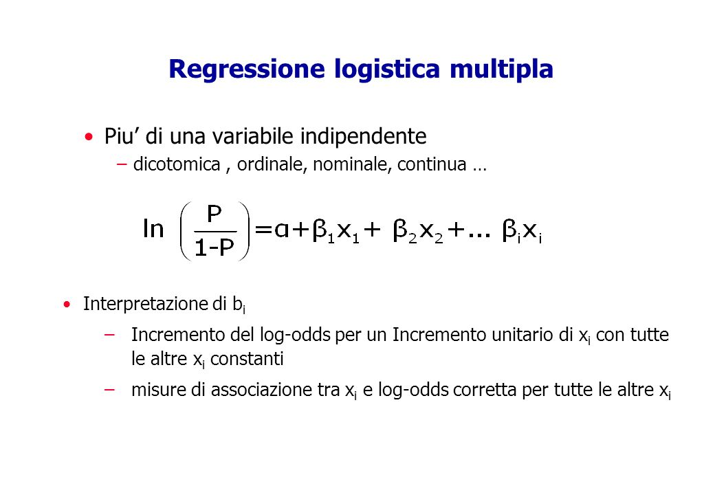 Regressione logistica multipla