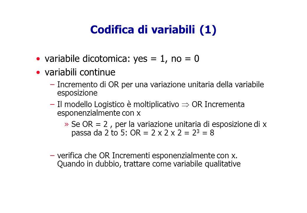Codifica di variabili (1)