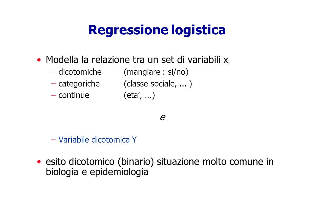 Regressione logistica