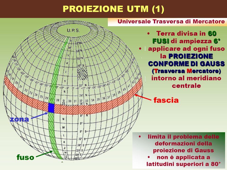 PROIEZIONE UTM (1) fascia zona fuso