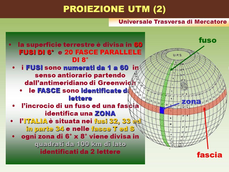 PROIEZIONE UTM (2) fuso zona fascia