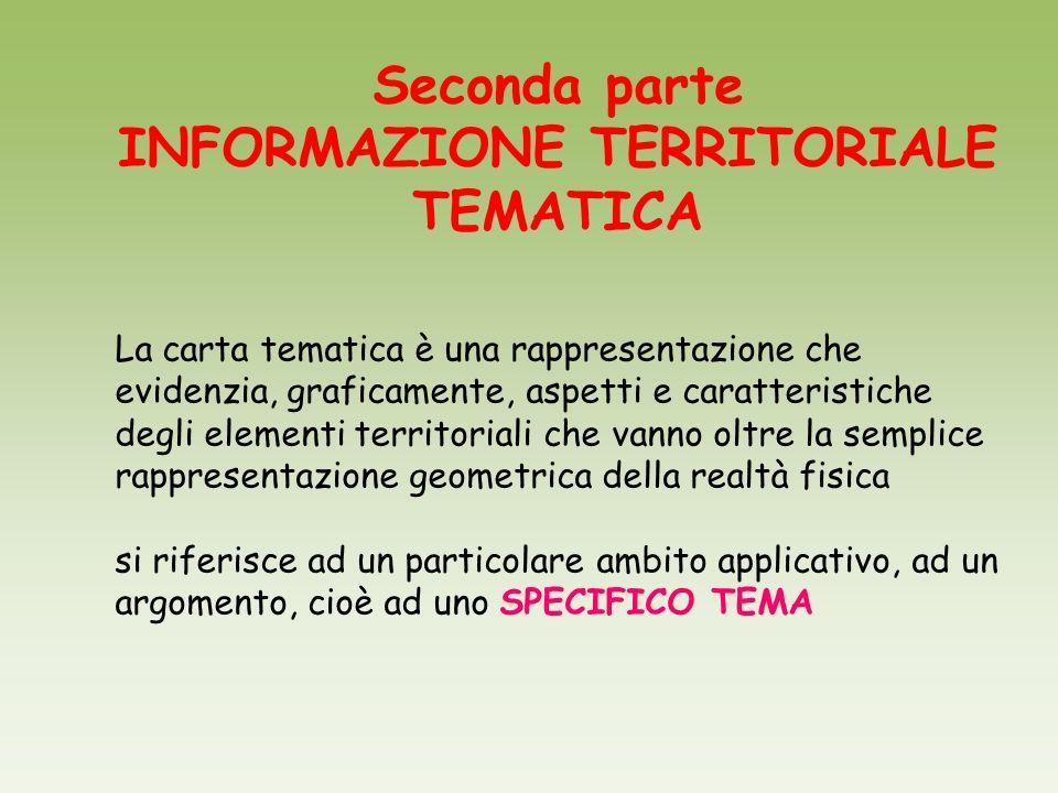 INFORMAZIONE TERRITORIALE TEMATICA
