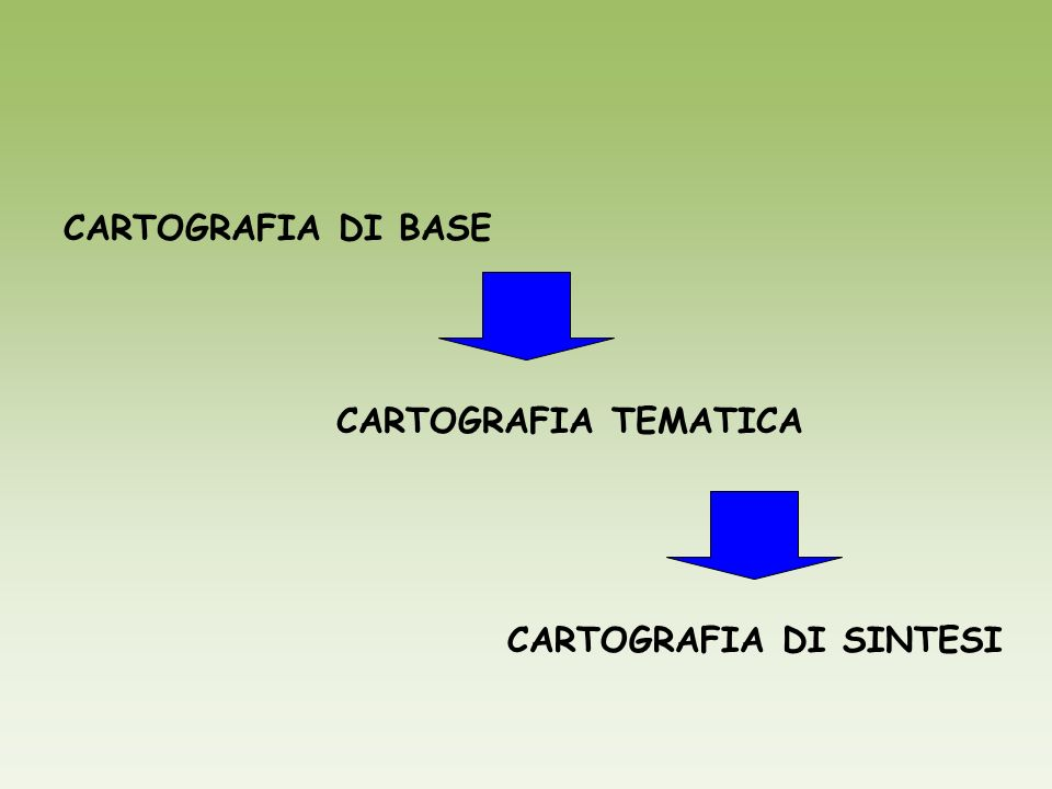 CARTOGRAFIA DI SINTESI
