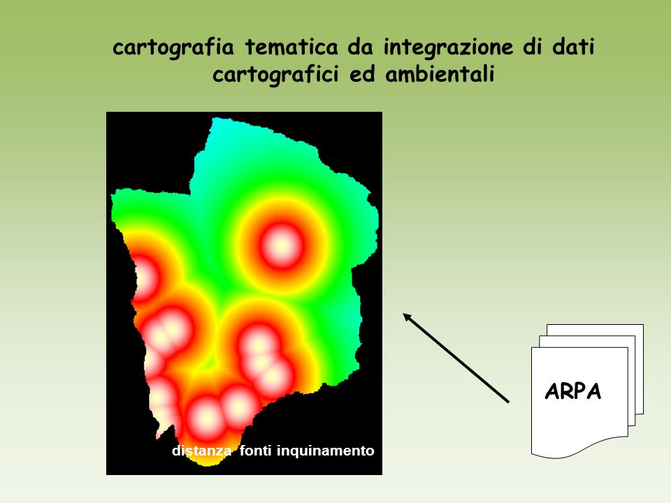 cartografia tematica da integrazione di dati cartografici ed ambientali