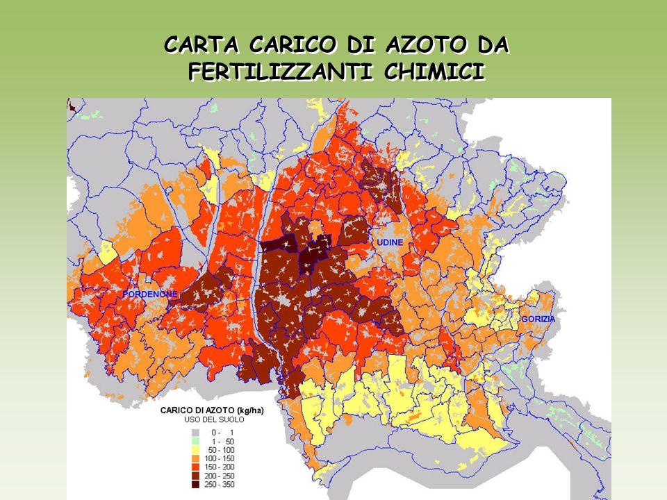 CARTA CARICO DI AZOTO DA FERTILIZZANTI CHIMICI