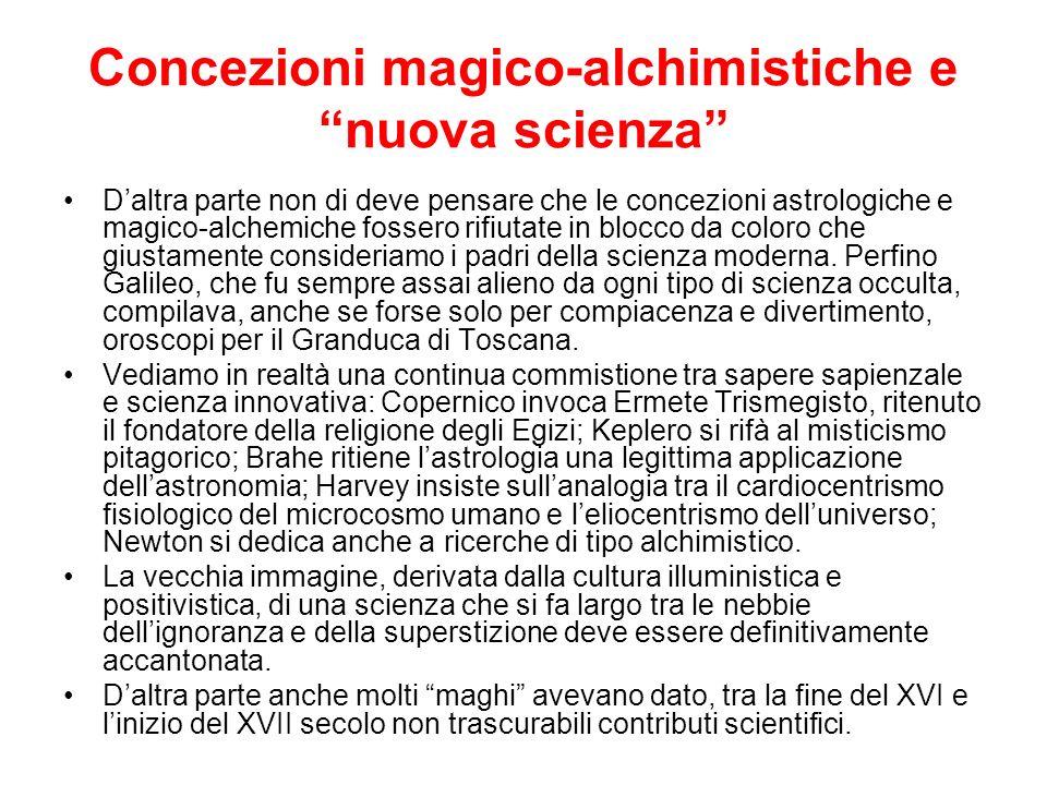 Concezioni magico-alchimistiche e nuova scienza