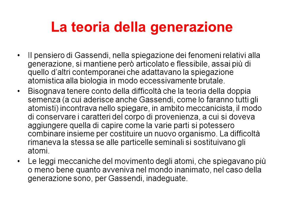 La teoria della generazione