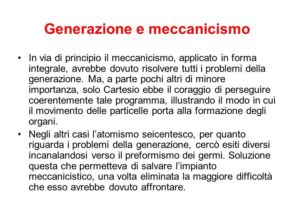 Generazione e meccanicismo