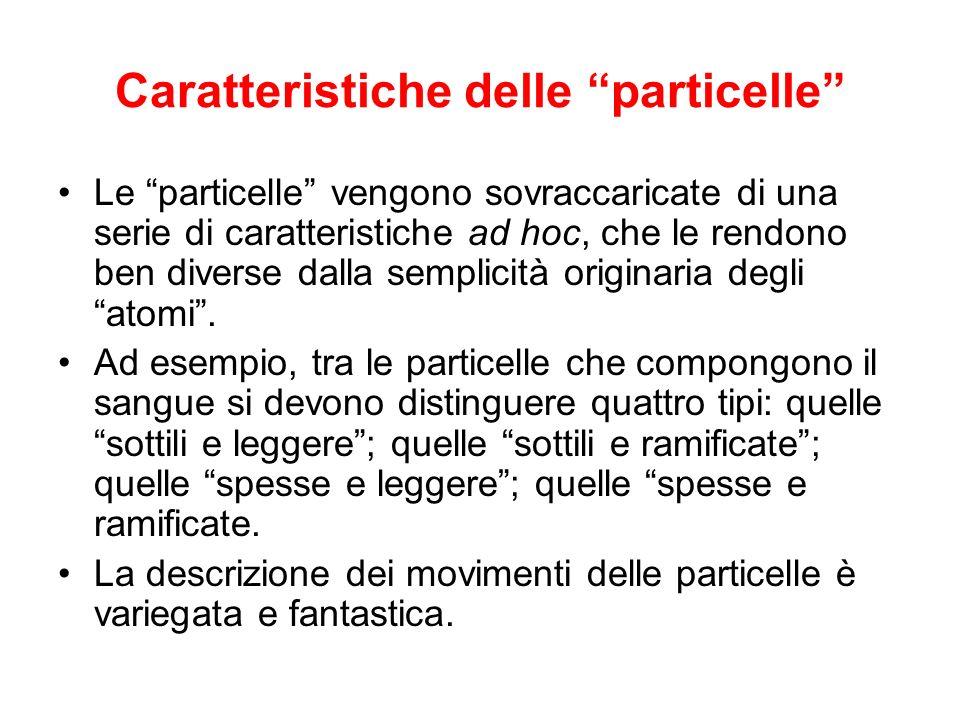 Caratteristiche delle particelle