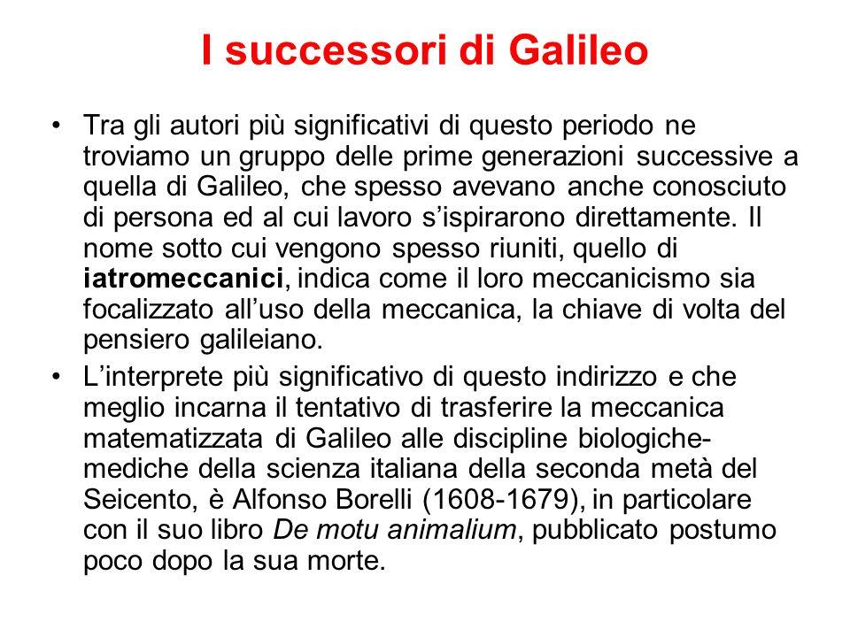 I successori di Galileo