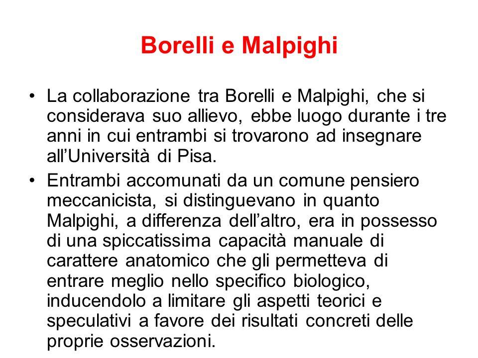 Borelli e Malpighi