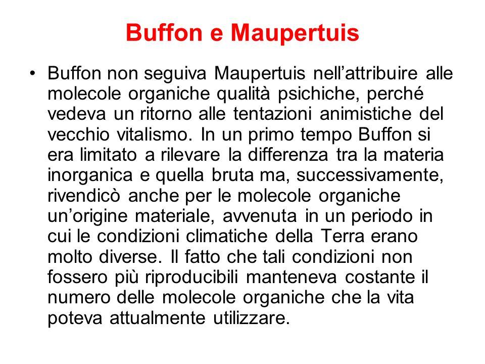 Buffon e Maupertuis