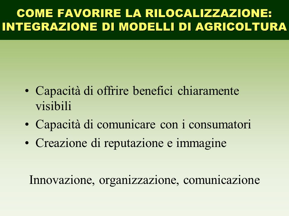Innovazione, organizzazione, comunicazione
