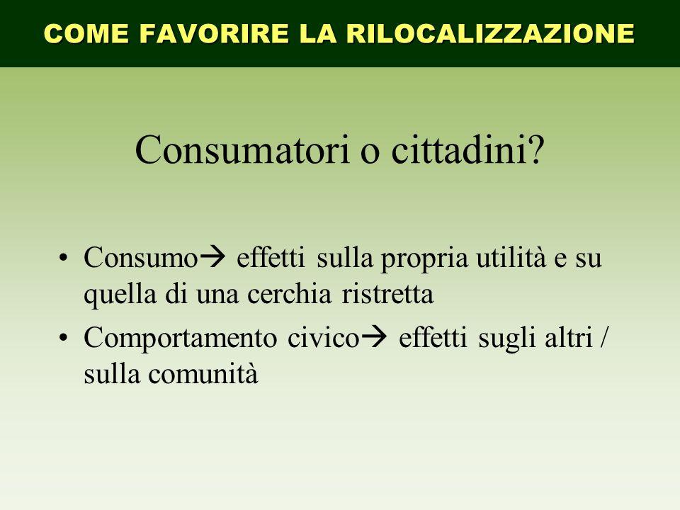 Consumatori o cittadini