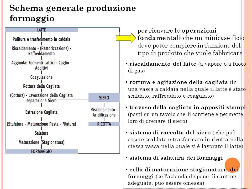 Schema generale produzione formaggio
