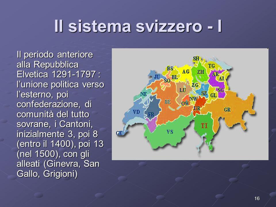 Il sistema svizzero - I