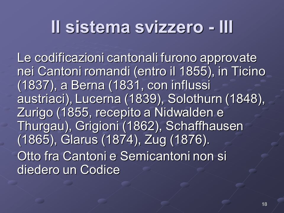 Il sistema svizzero - III