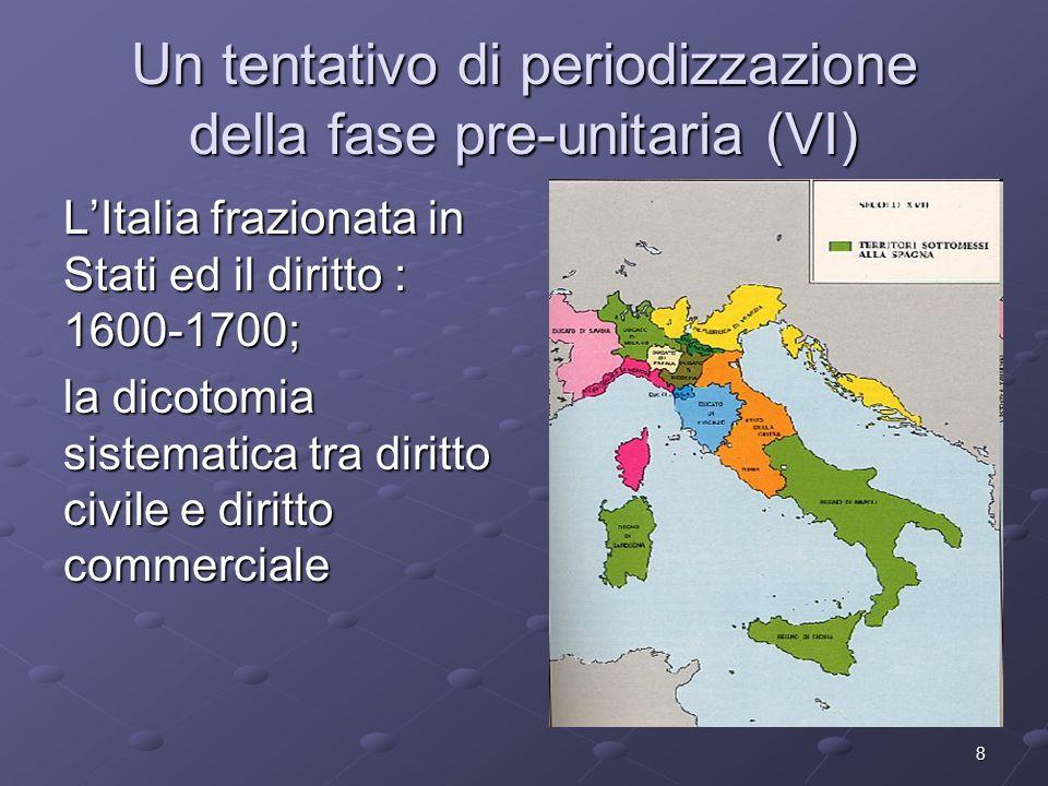 Un tentativo di periodizzazione della fase pre-unitaria (VI)