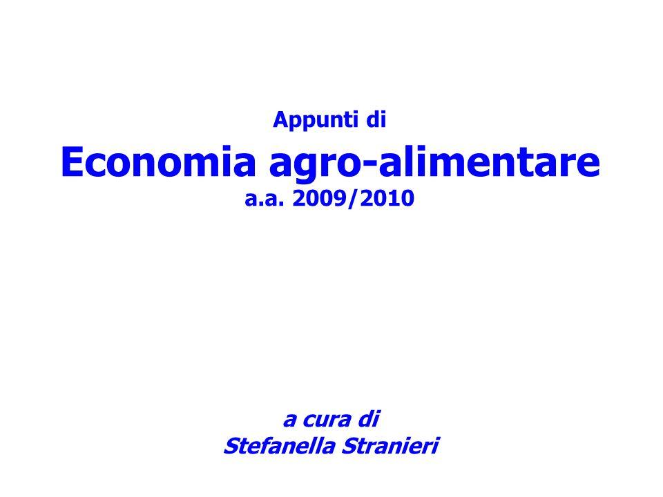 Appunti di Economia agro-alimentare a. a