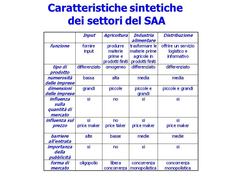 Caratteristiche sintetiche