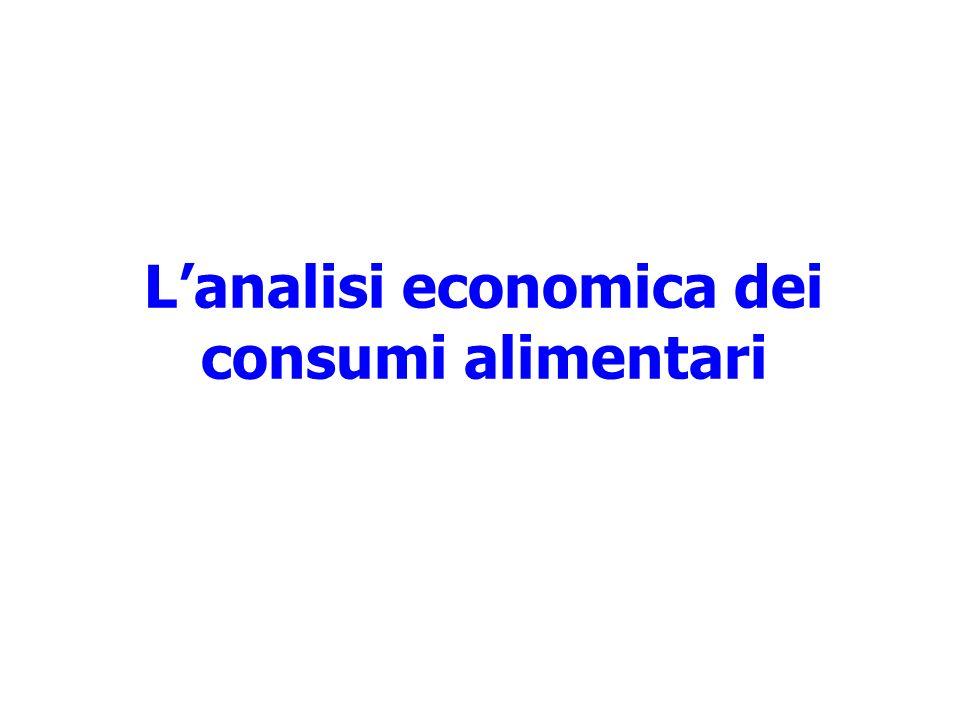 L'analisi economica dei consumi alimentari