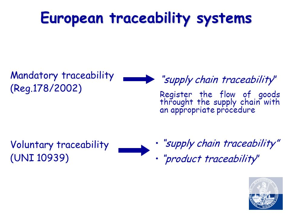 European traceability systems