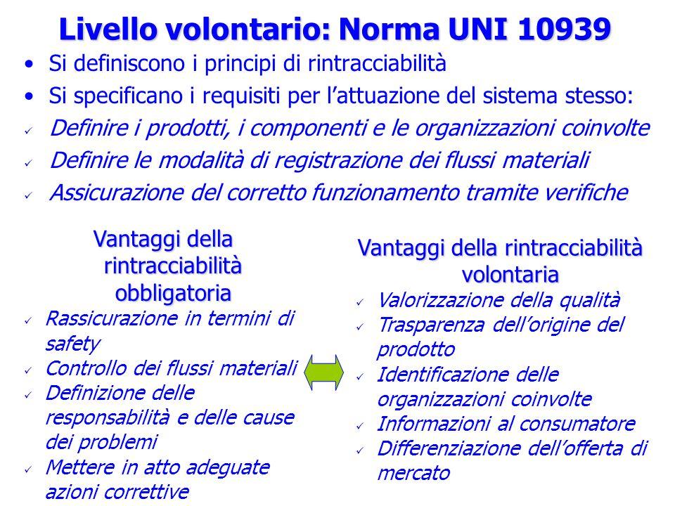 Livello volontario: Norma UNI 10939