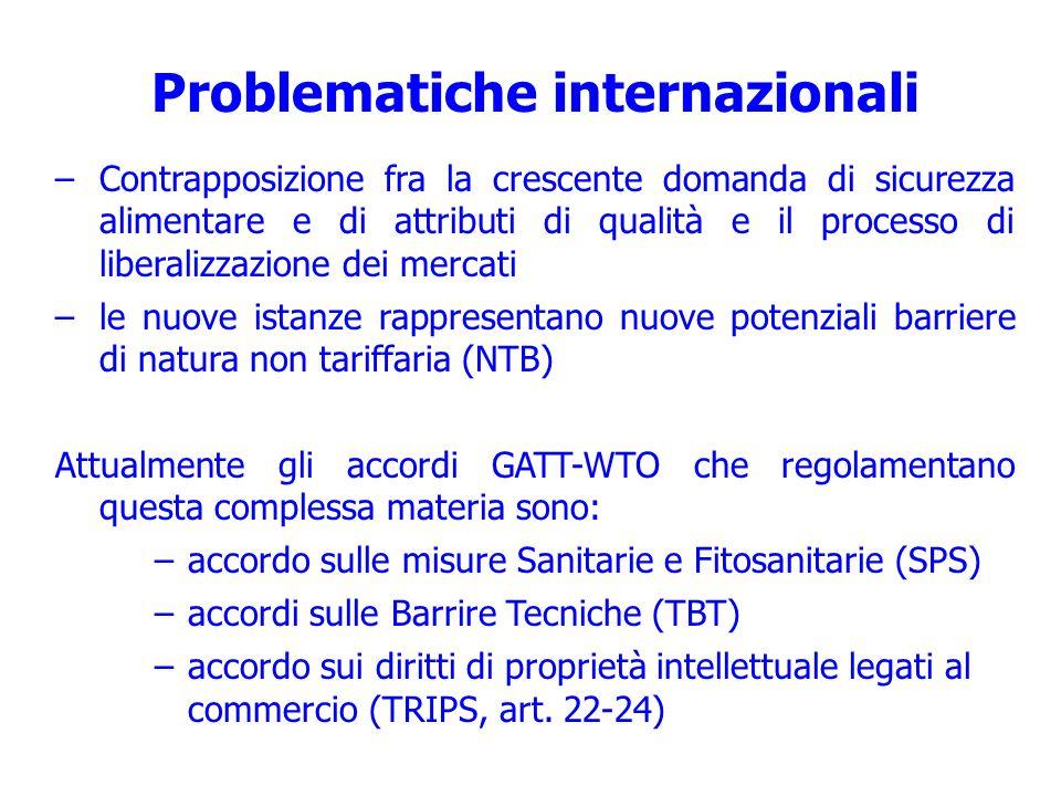 Problematiche internazionali