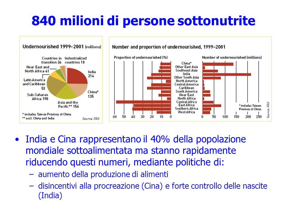 840 milioni di persone sottonutrite