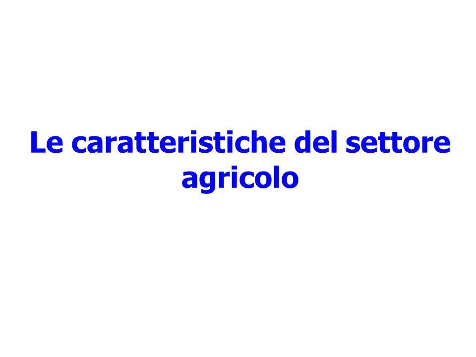 Le caratteristiche del settore agricolo