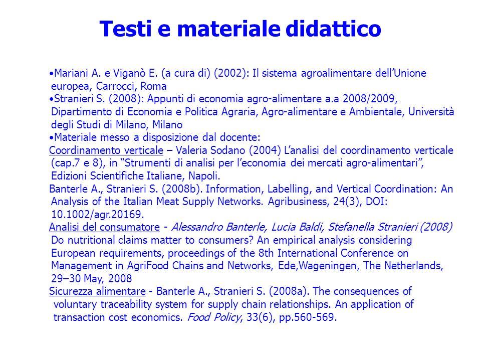 Testi e materiale didattico