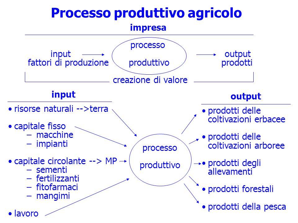 Processo produttivo agricolo