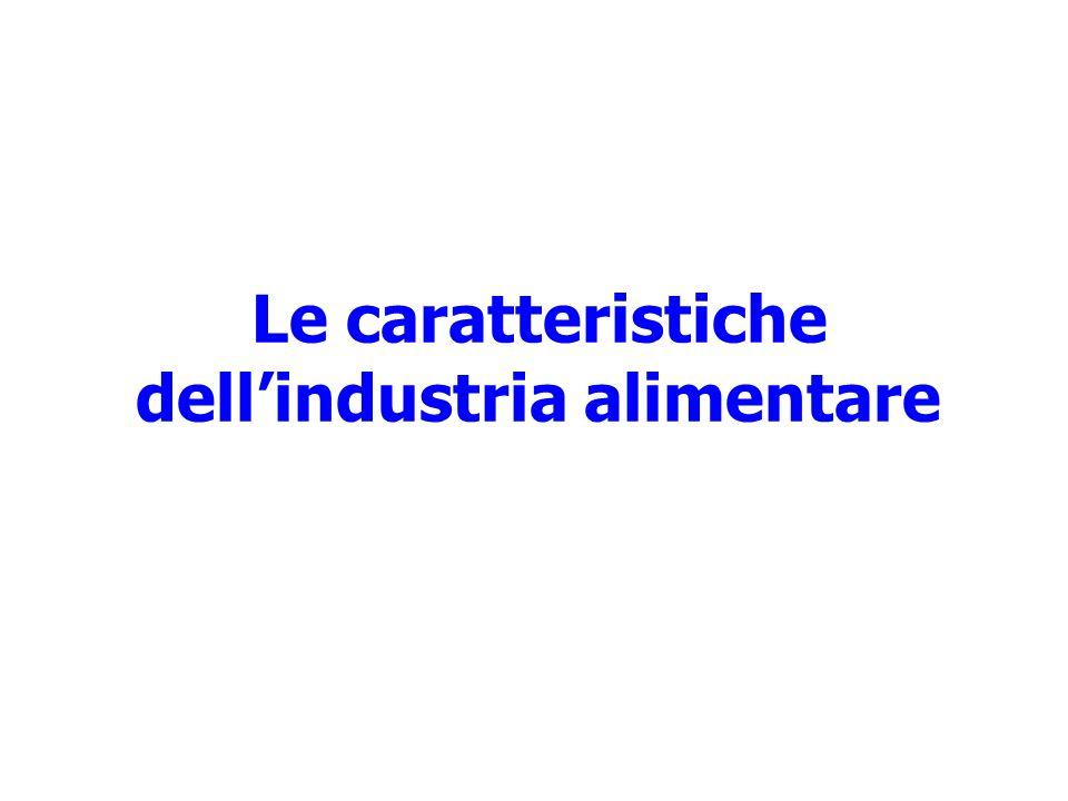 Le caratteristiche dell'industria alimentare