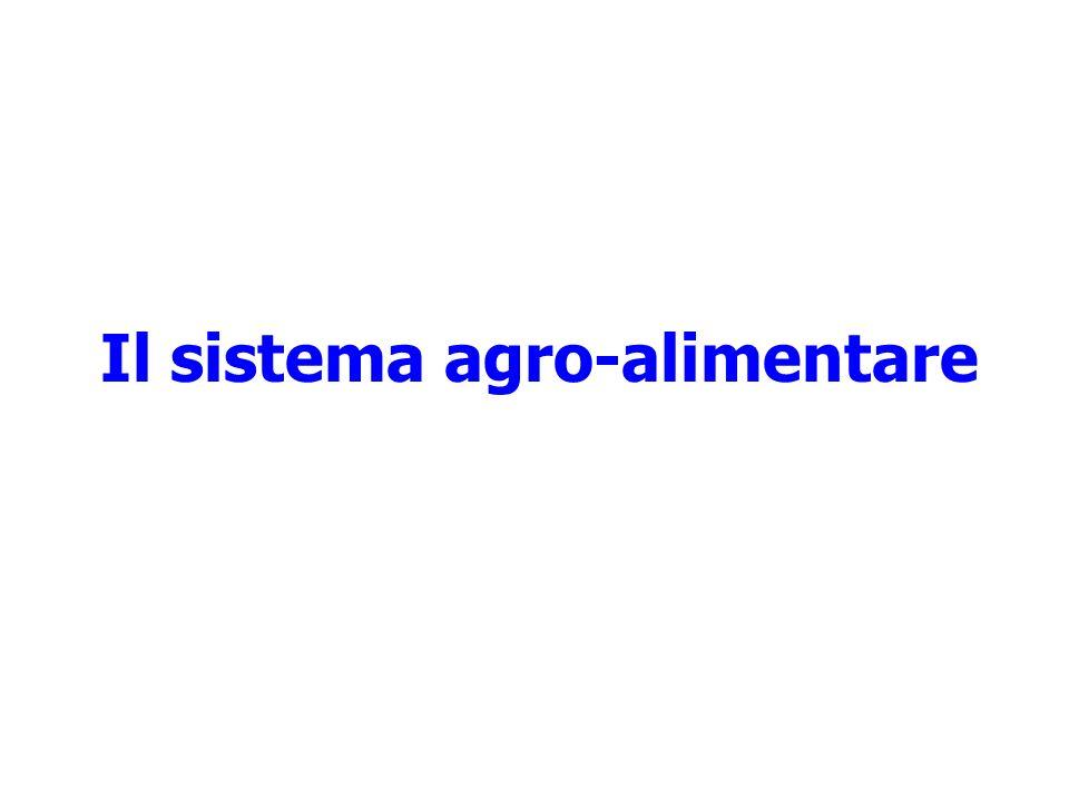 Il sistema agro-alimentare