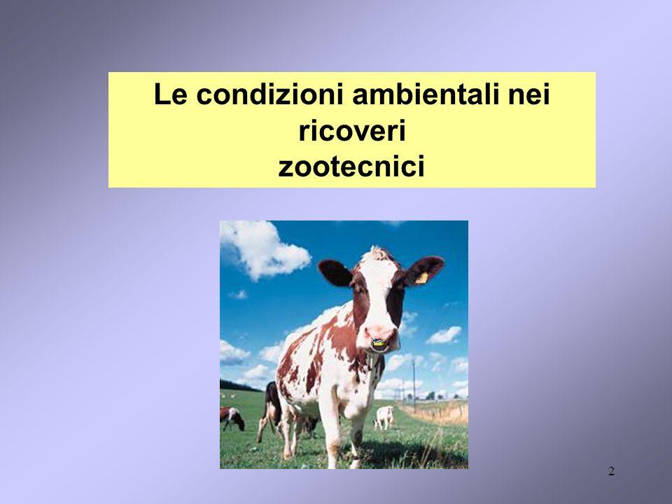 Le condizioni ambientali nei ricoveri zootecnici