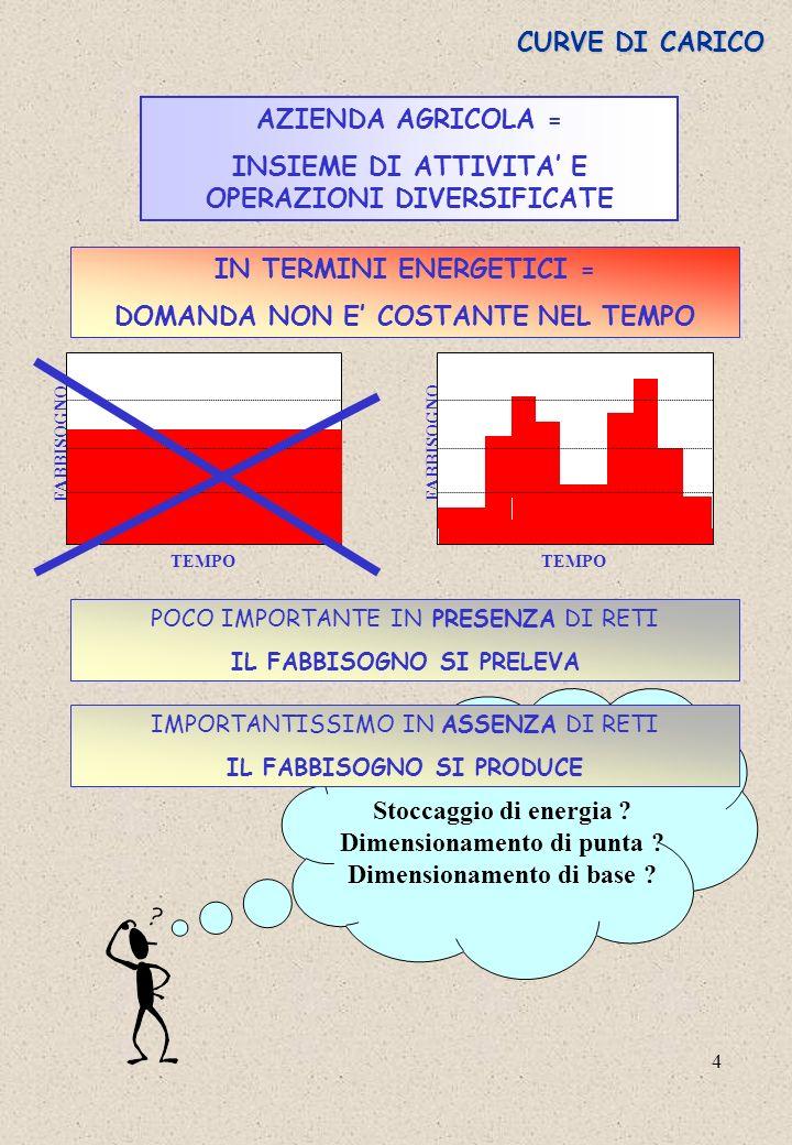 INSIEME DI ATTIVITA' E OPERAZIONI DIVERSIFICATE