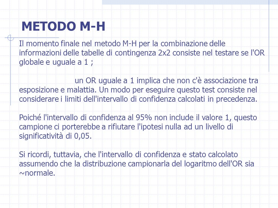 METODO M-H