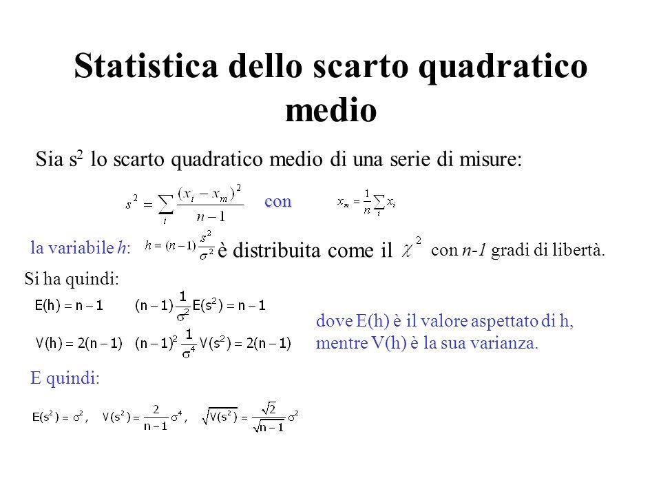 Statistica dello scarto quadratico medio