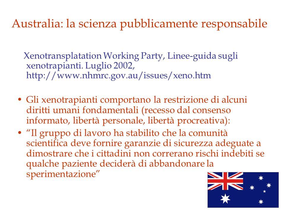 Australia: la scienza pubblicamente responsabile