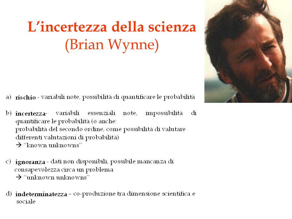 L'incertezza della scienza (Brian Wynne)
