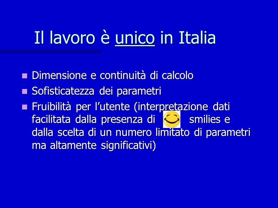 Il lavoro è unico in Italia
