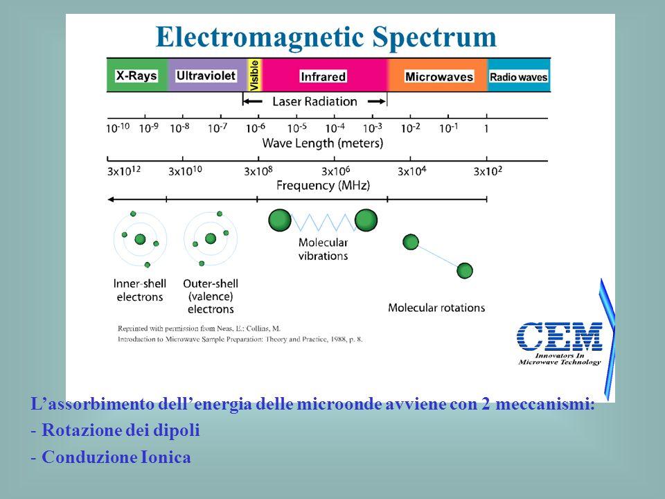 L'assorbimento dell'energia delle microonde avviene con 2 meccanismi: