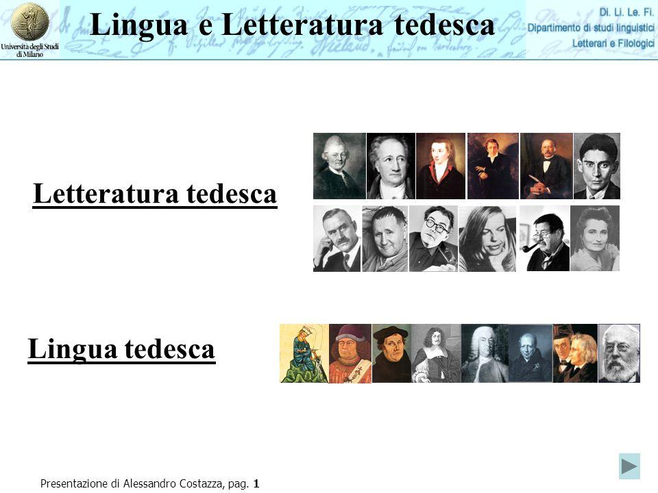 Lingua e Letteratura tedesca