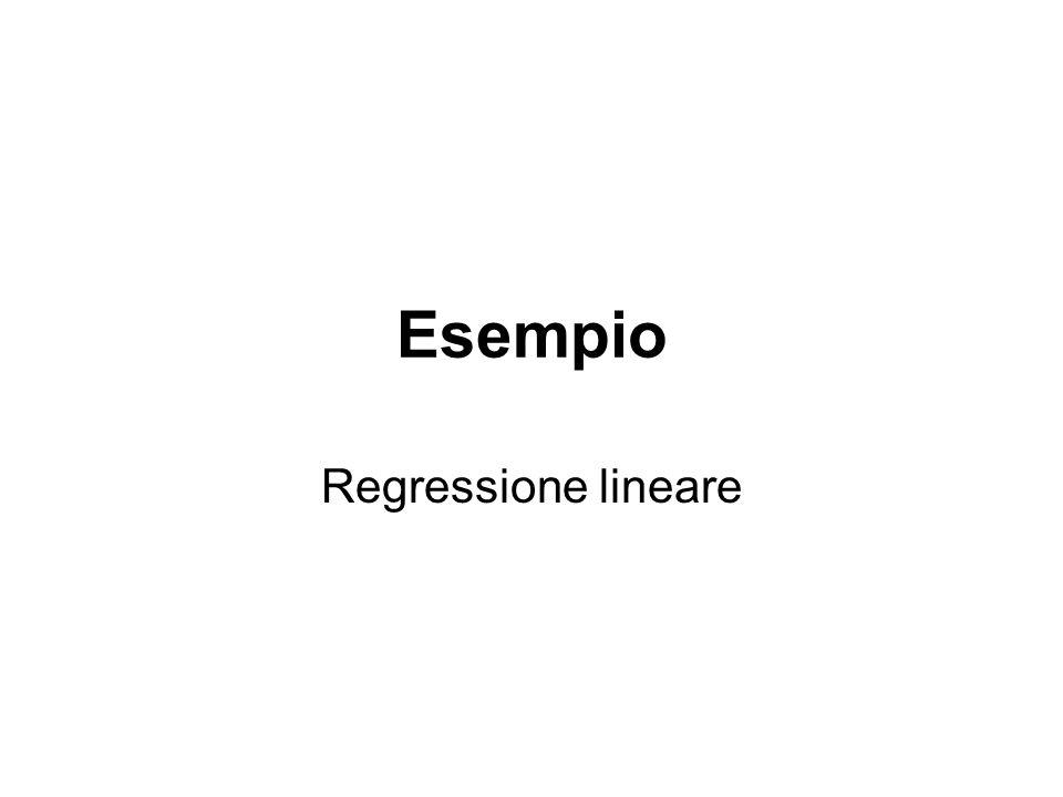 Esempio Regressione lineare