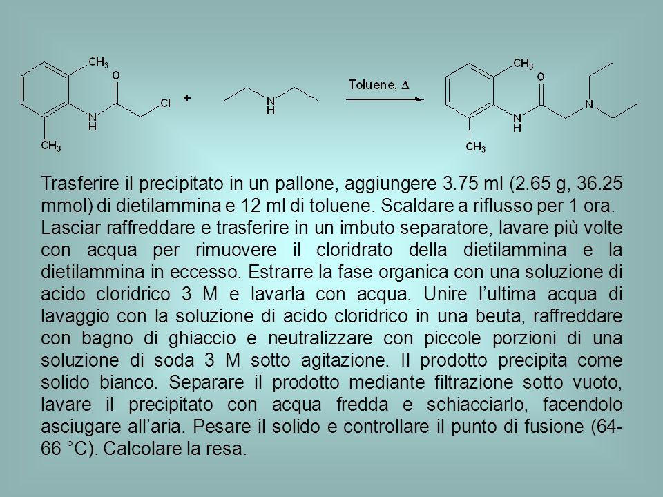 Trasferire il precipitato in un pallone, aggiungere 3. 75 ml (2